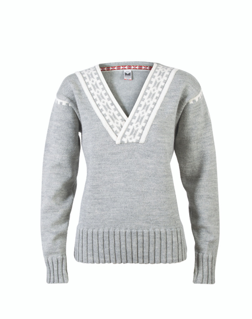 Dale of Norway, Alpina sweater in Light Charcoal/ Cream, 92531-E