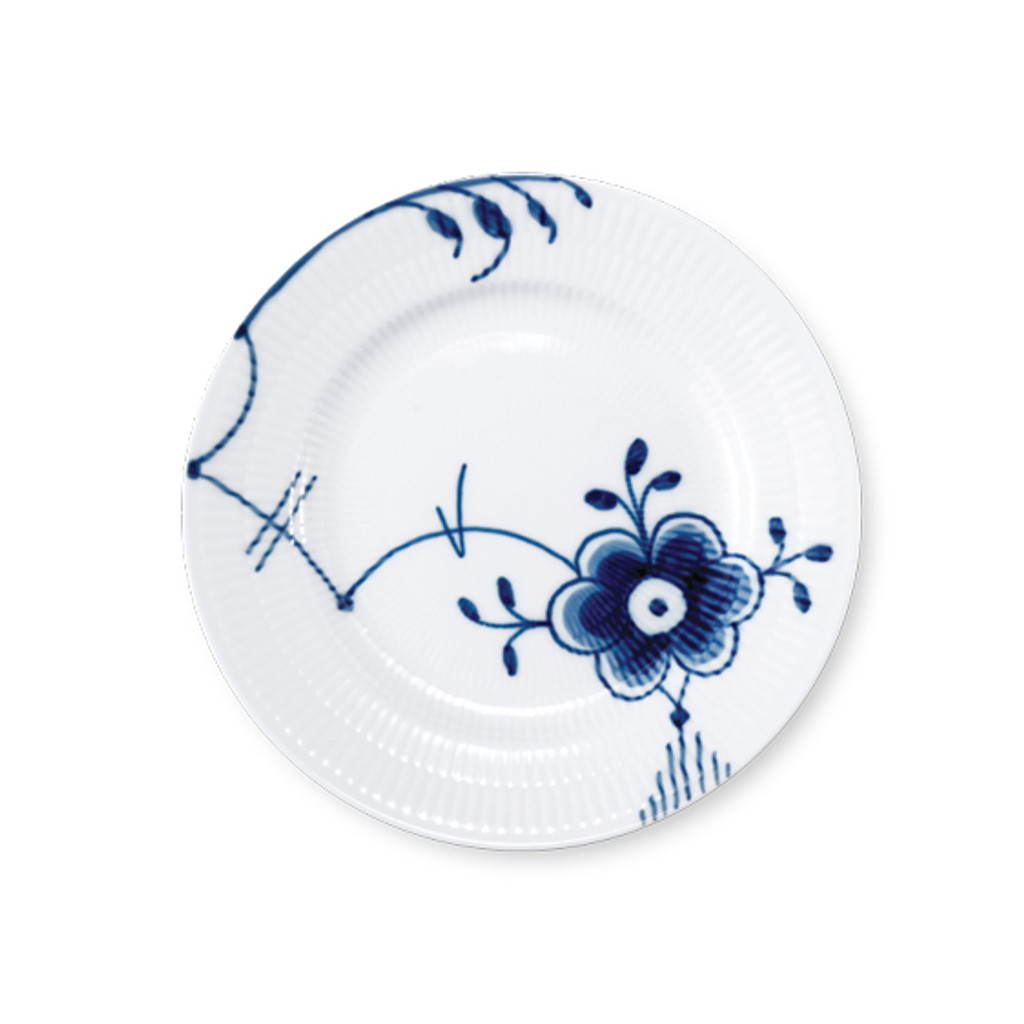 Royal Copenhagen Blue Fluted Mega Bread and Butter Plate No. 6, 6.75""