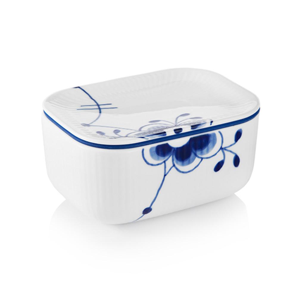 """Royal Copenhagen Blue Fluted Mega Butter Jar with Lid, 2.75"""""""