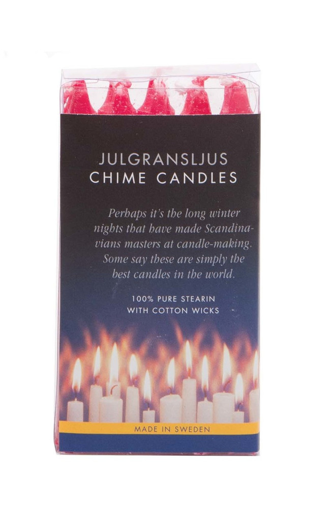Swedish Angel Chime Candles, Red