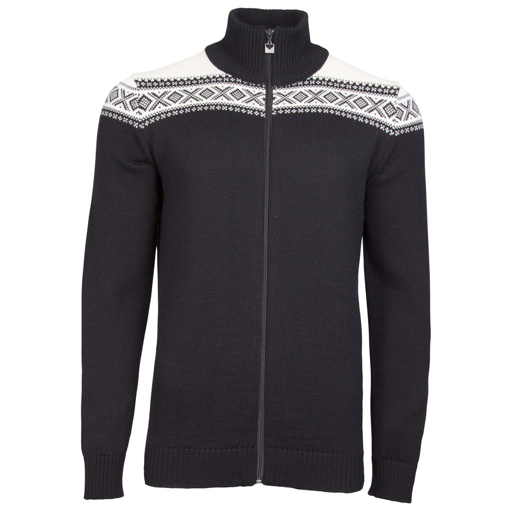 Dale of Norway, Cortina Merino cardigan, mens, in Black/White, 83321-F