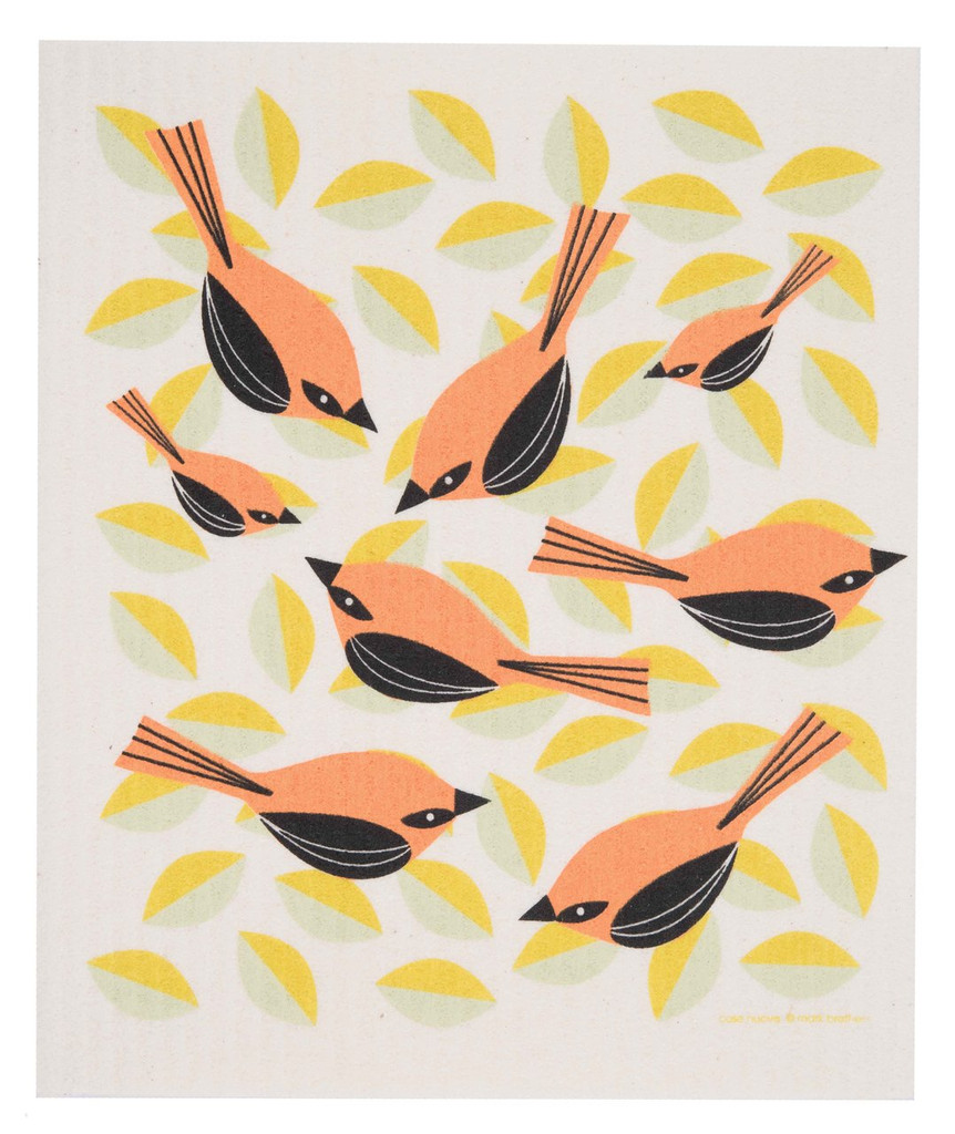 Swedish dish cloth, Orioles design