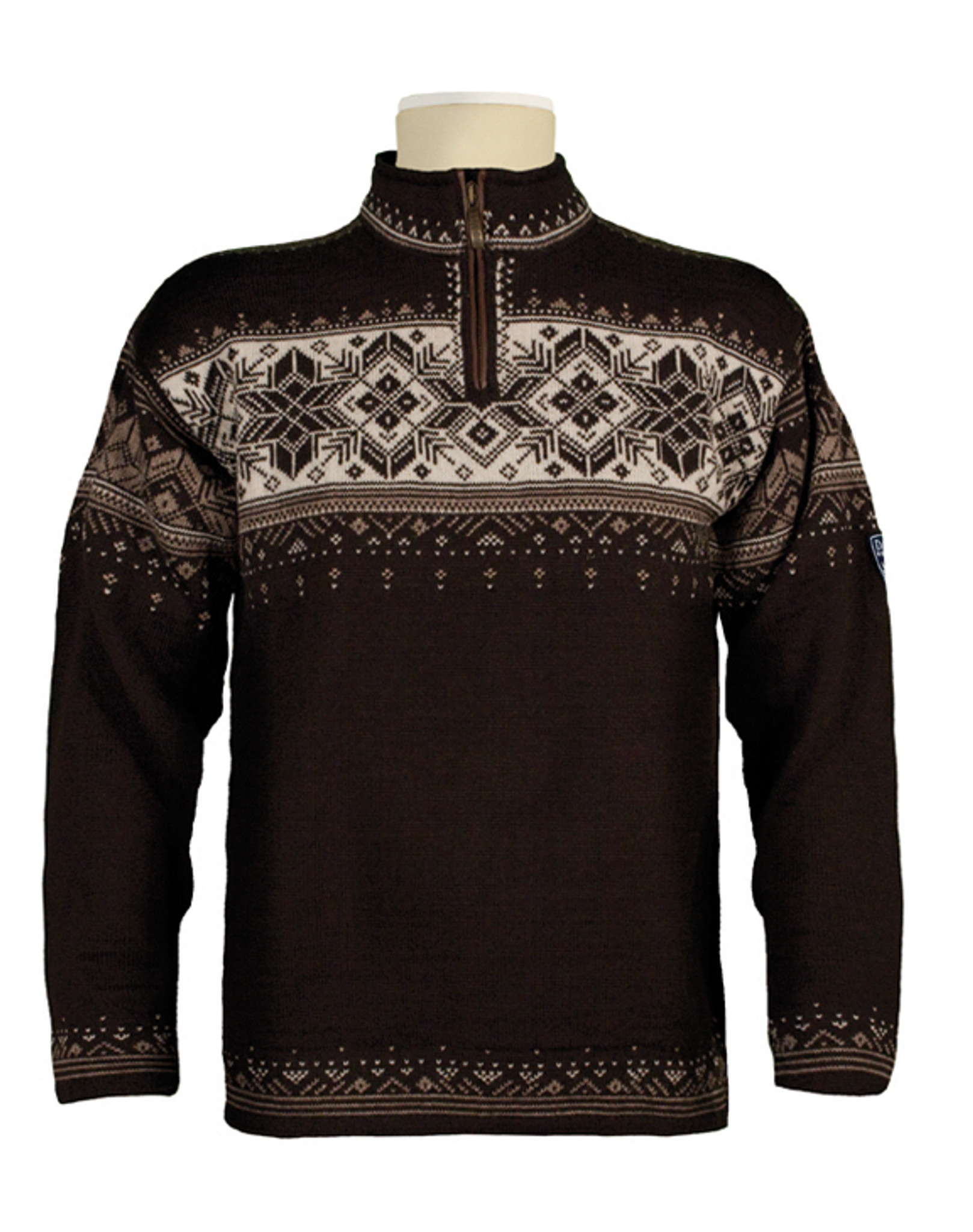 Dale of Norway, Blyfjell Sweater, Unisex, in Coffee/Mountainstone/Off White  Click to enlarge ...
