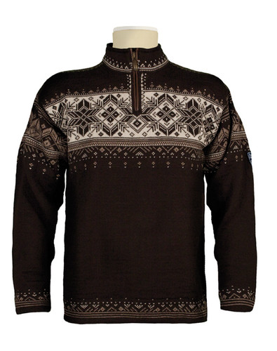 Dale of Norway Blyfjell Sweater - Coffee/Mountainstone/Off White/Latte, 91291-R