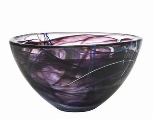 Kosta Boda Contrast Black Bowl- Medium