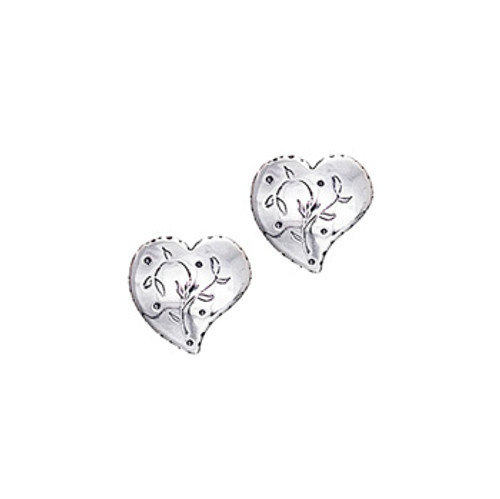 Huldre of Norway Silver Heart Post Earrings
