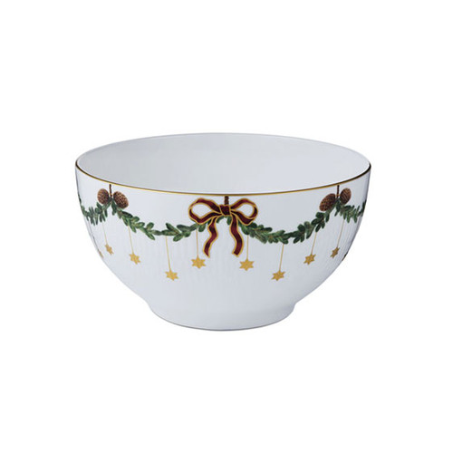 Royal Copenhagen Star Futed Christmas Serving Bowl