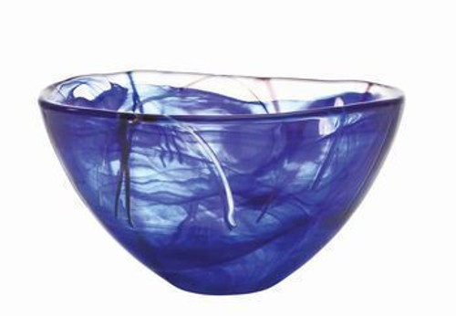 Kosta Boda Contrast Blue Bowl- Medium