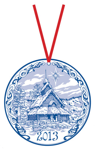 2013 Stav Church Ornament- Eidsborg