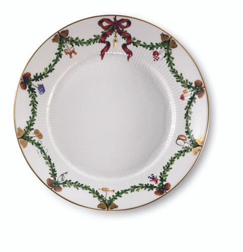 Royal Copenhagen Star Fluted Christmas Salad Plate, 8.75""