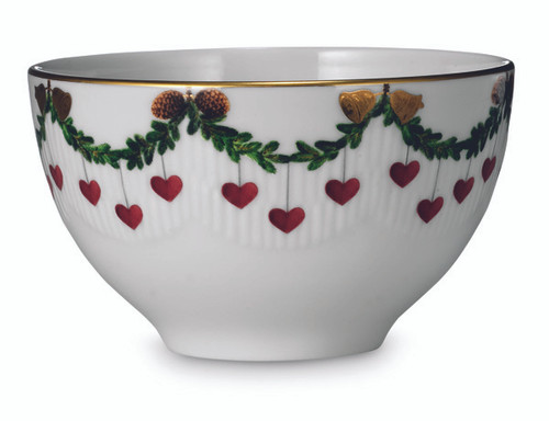Royal Copenhagen Star Fluted Christmas Chocolate Bowl, 10 oz.