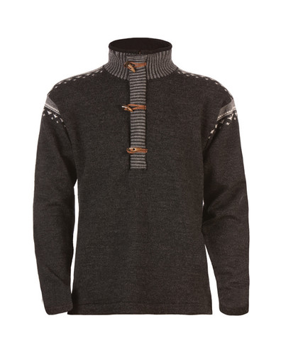 Dale of Norway Finnskogen Windstopper, Mens - Dark Charcoal/Smoke/Off White, 91901-E