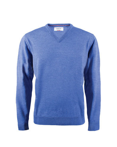 Dale of Norway Harald Sweater, Mens - Medium Blue Melange, 92412-H