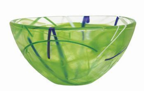 Kosta Boda Contrast Lime Bowl- Small