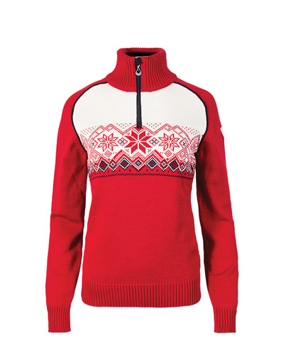 Dale of Norway Frostisen Sweater, Ladies - Raspberry/Navy/Off White, 93082-B