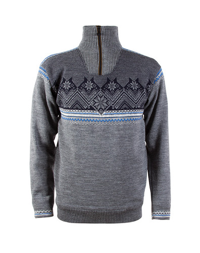 Dale of Norway Glittertind Windstopper Sweater, Mens - Smoke/Cobalt/Navy/Light Charcoal, 92881-T