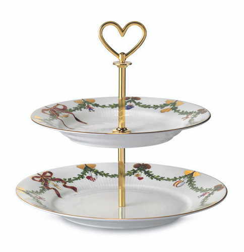 Royal Copenhagen Star Fluted Christmas Etagere