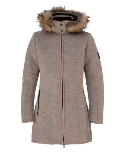 Dale of Norway Colorado Knitshell Long Coat, Ladies - Sand, 82671-P