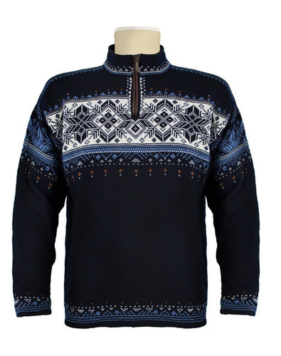 Dale of Norway Blyfjell Sweater - Navy/China Blue/Off White/Copper, 91291-C