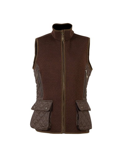 Dale of Norway Jeger Knitshell Vest, Ladies - Mocca, 85041-R