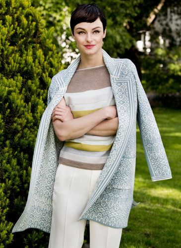 Hanne Oleana Long Length Cardigan (Salstí_rm), 327Q Light Blue