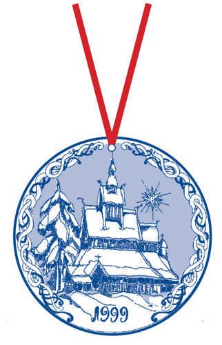 1999 Stav Church Ornament - Hopperstad