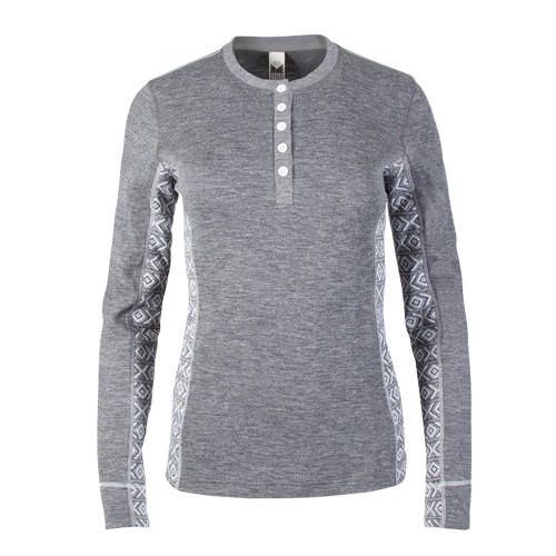 Dale of Norway Bykle Shirting, Ladies - Grey/White, 93201-E