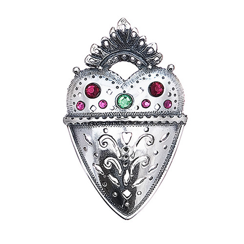 Huldre of Norway Silver Bjornsgard Heart Brooch