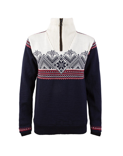 Dale of Norway Glittertind Windstopper Sweater, Ladies - Navy/Raspberry/Light Charcoal/Off White, 92981-C