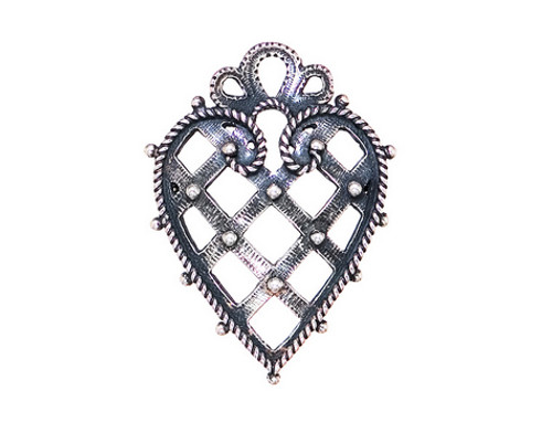 Huldre of Norway Silver Maihaugen Heart Brooch