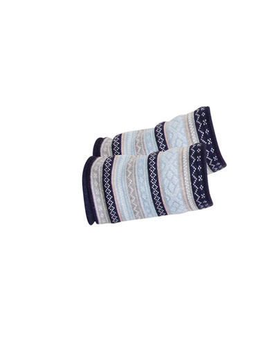 Dale of Norway Vinje scarf in Navy/Beige/Metal/Light Blue/Off White, 25010-D