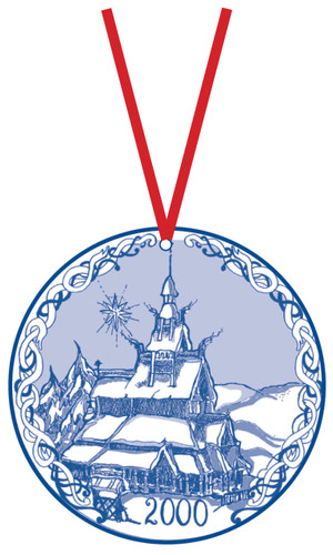 2000 Stav Church Ornament - Fortun