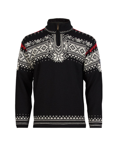 Dale of Norway Anniversary Pullover - Black/Off White/Raspberry, 34931-F