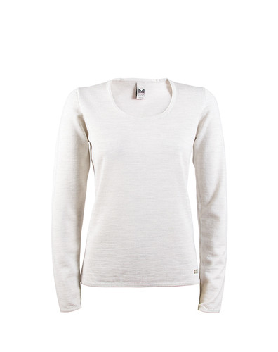 Dale of Norway, Astrid ladies sweater in White Mel, 92432-A