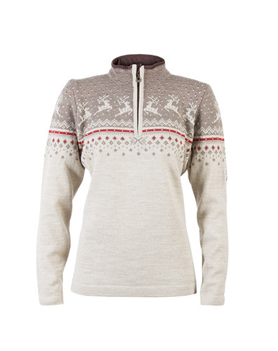 Dale of Norway Tuva Pullover, Ladies - Mountainstone/Sand/Wine, 91491-P