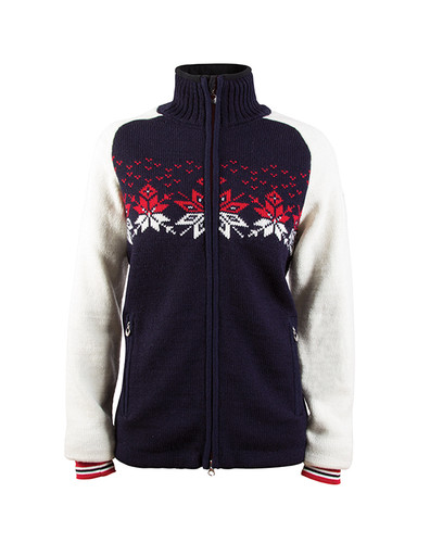 Dale of Norway Snetind Windstopper Jacket, Ladies - Navy/Off White/ Raspberry/Smoke, 82851-C