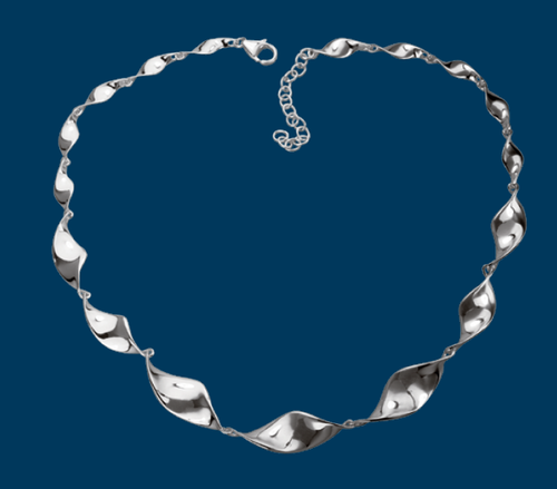Danish Silversmiths Shiny Twist Necklace