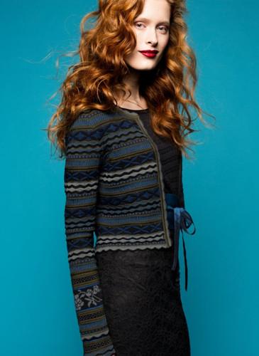 Grete Oleana Short Length Striped Cardigan, 311O Black/Grey