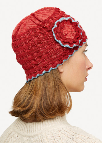 Vera Oleana Hat with Flower,135R Red