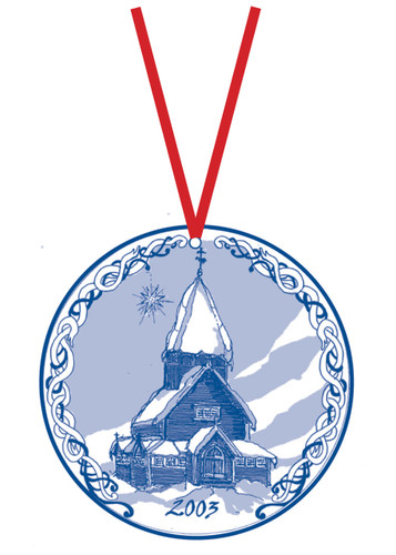 2003 Stav Church Ornament - Roldal