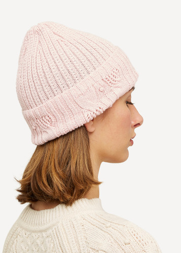 Linnea Oleana Textured Knitted Hat, 423V Light Pink