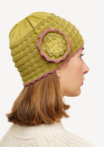 Vera Oleana Hat with Flower,135G Green
