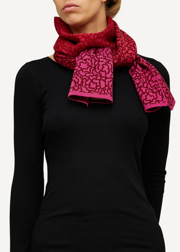 Ella Oleana Patterned Shawl, 319R Red