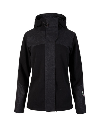 Dale of Norway Stryn Knitshell Jacket, Ladies - Black/Dark Charcoal, 85121-F