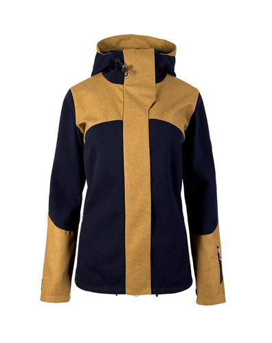 Dale of Norway Stryn Knitshell Jacket, Ladies - Navy/Mustard, 85121-C