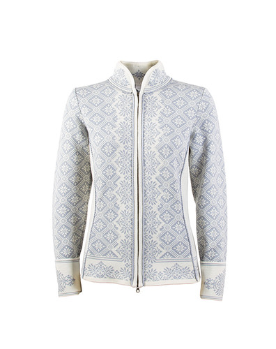 Dale of Norway Christiania Cardigan, Ladies - Metal Gray/Off White, 81951-A