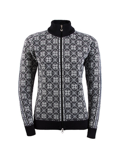 Dale of Norway Frida Cardigan, Ladies - Black/Off White/ Schiefer/Grey, 82931-F