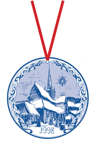1998 Stav Church Ornament - Ringebu