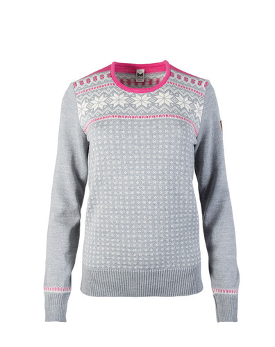 Dale of Norway Garmisch Sweater, Ladies - Grey Melange/Off White/Allium, 92601-I