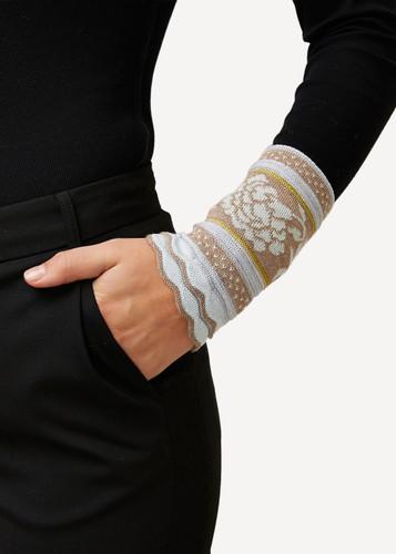 Grete Oleana Bold Patterned Wristlet, 315B Beige